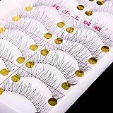 Niome 10 Pairs Makeup False Eyelashes Handmade Natural Welcome Pinup Eye Lashes 219