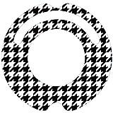 ルンバ ステッカー デコルン 【千鳥格子パターン ポップで伝統的な柄】★ラミネート加工で保護★再剥離可能で安心★対応機種:ルンバ 620 621 622 630 650 527 530 537 577 560