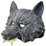 狼 オオカミ ウルフ ラバー マスク 祭 ハロウィン クリスマス お面 仮面 コスプレ 仮装 変装 パーティー イベント 宴会に