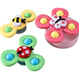 yeesport 3PCS Whirly Spinner Toys Butterfly Funny Suction Cup Spinning Top Toy Spinning Suction Toys Kids Spinner Toys