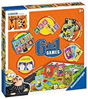 Ravensburger 6 in 1ゲームス ミニオンズ Despicable Me 3, 6 in 1 Games- DM3