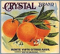 クリスタルブランド–リバーサイド、カリフォルニア–Citrusクレートラベル 36 x 54 Giclee Print LANT-57359-36x54