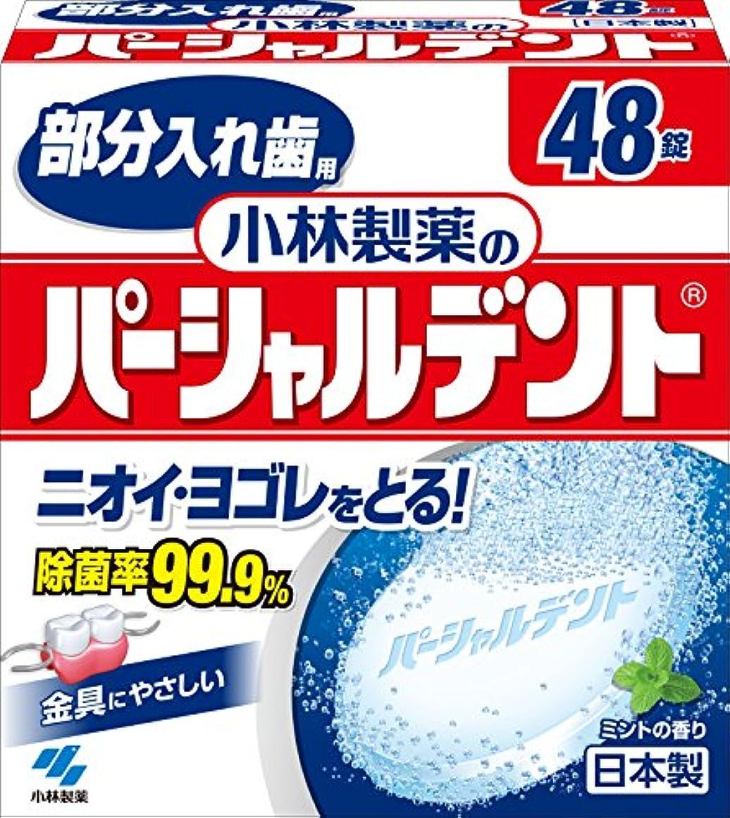 親密な保存するコピー小林製薬のパーシャルデント 部分入れ歯用 洗浄剤 ミントの香 48錠