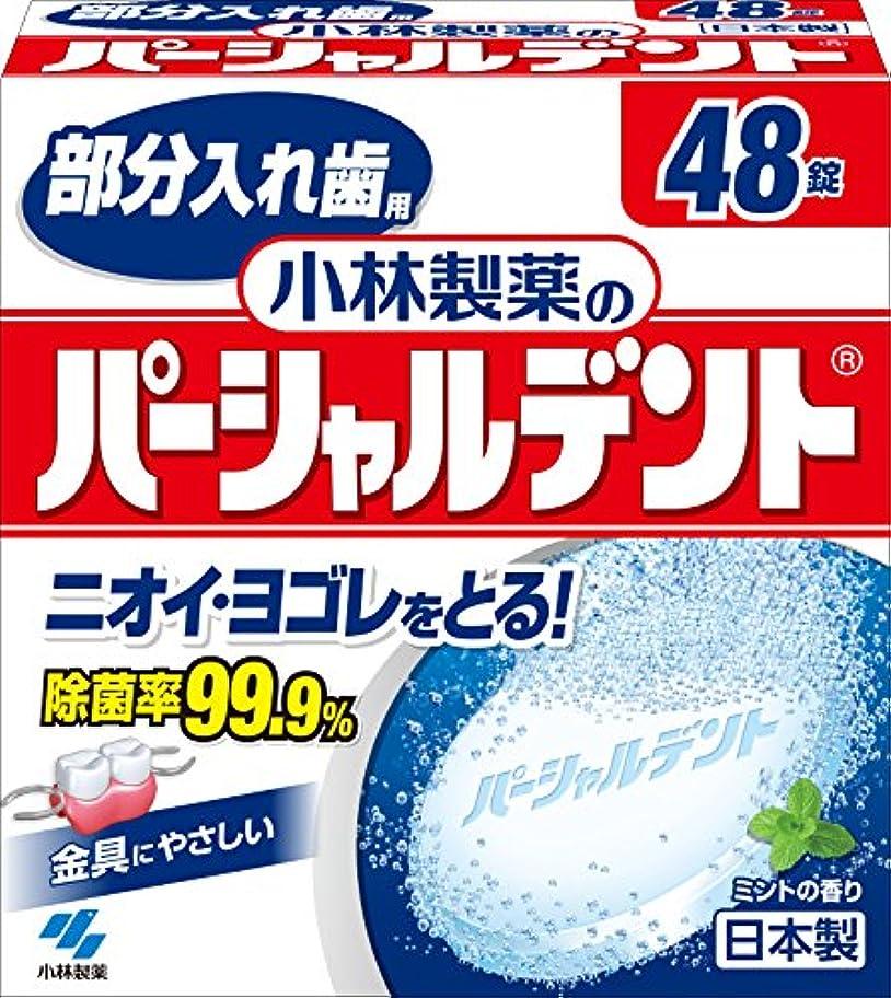 ブート有限提供小林製薬のパーシャルデント 部分入れ歯用 洗浄剤 ミントの香 48錠