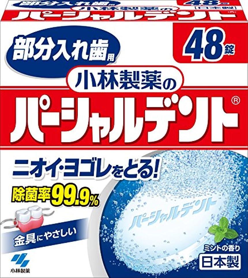 協力ポーク解体する小林製薬のパーシャルデント 部分入れ歯用 洗浄剤 ミントの香 48錠