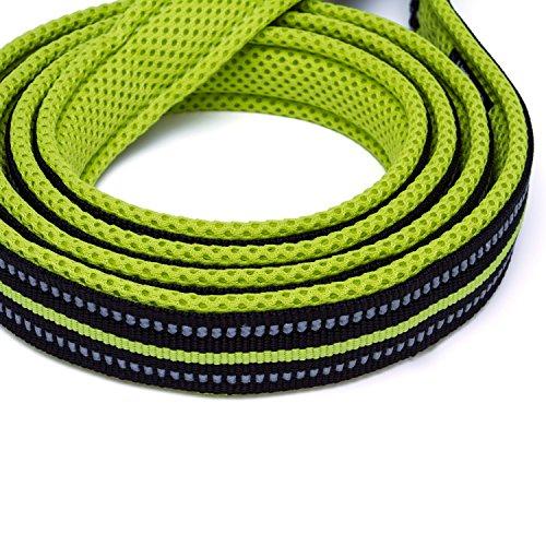 君のベイマックス ペット用品 犬用リード  訓練リード ロングリード 3M反射材料 ナイロン製  小中大型犬に向け  通気性  調節可能 メッシュペット ハーネス  サイズM 1.1m グリーン