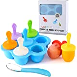 Silicone Popsicle Molds, Ice Pop Molds, Storage Container for Homemade Food, Kids Ice Cream DIY Pop Molds - BPA Free (Blue)