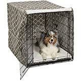 Midwest Homes for Pets Dog Crate Cover, Brown Geometric Pattern, 42-Inch