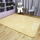 ラグ ラグマット シャギーラグ 絨毯 北欧 滑り止め付 マイクロファイバー 絨毯 ラグカーペット 洗える 約200cmx250cm  (L, キャメル)