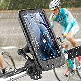 自転車 スマートフォンホルダ 防水ロードバイク スタンド 360度回転 携帯ホルダー 防塵 遮光 防圧 透明なタッチ GPSナビゲーション 滑り止め衝撃吸収 自転車タッチパネルフレームホルダーバッグ