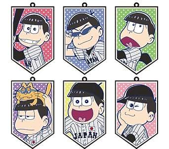 おそ松さん×侍ジャパン トレーディングラバーストラップ BOX商品 1BOX = 6個入り、全6種類