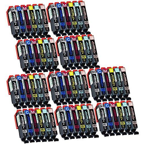 【横トナ オリジナル品】 【60本セット】エプソン用 IC6CL80L  互換 インクタンク 増量版 6色パックx10個セット IC80  ICチップ付き 残量検知対応 【互換インクカートリッジ】 対応機種:EP-707A / EP-708A / EP-777A / EP-807AB / EP-807AR / EP-807AW / EP-808AB / EP-808AR / EP-808AW / EP-907F / EP-977A3 / EP-978A3 / EP-979A3