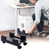 CPUスタンド キャスター付き Yibaision デスクトップ用 PC収納ボックス パソコンスタンド H型 CPUキャスター パソコン本体設置用 幅15cm~25cm 無段階調節 PC収納ボックス 会社 オフィス 移動 自宅 便利用品 ブラック