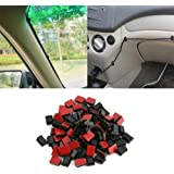 Jujudada 40Pcs Adhesive Cable Clips Car Data Cord Tie Cable Mount Wires Fixed Clips Self-adhesive