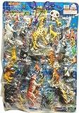 【くじ引き 台紙くじ おもちゃくじ】キモキモあつめるんです(動物 動物フィギュア) 景品100+5個