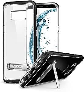 【Spigen】 Galaxy S8 Plus ケース [ SC-03J SCV35 ] 対応 二重構造 バンパー 背面クリア スタンド機能 クリスタル・ハイブリッド 571CS21126 (ブラック)