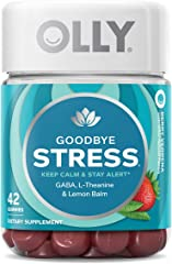 OLLY Goodbye Stress Gummy Vitamins with GABA, For Keeping Calm and Staying Alert, 21 Day Supply, 42 count,858158005701,42 Cou