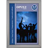 Opus 2 Snap Frame A4, 20 mm | Aluminium Anodised Construction & Anti-Glare Cover | Clip Poster Holders for Retail & Advertisi