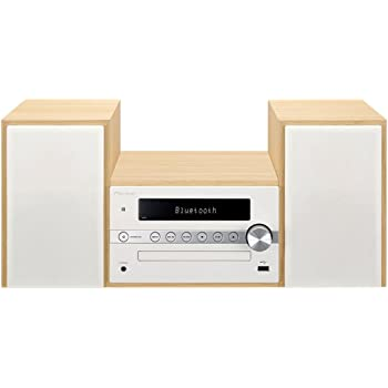 パイオニア X-CM56 CDミニコンポ Bluetooth搭載/AM/FM対応 ホワイト X-CM56(W)  【国内正規品】