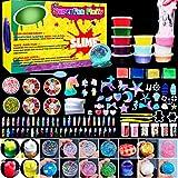 HSETIY Unicorn DIY Slime kit Supplies-6 Cloud Slime6 Clear Slime3 Jelly Cube5 Unicorn55 Glitter4 Magic Clay with DIY Slime Tool and Slime Box