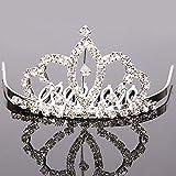 Amazon.co.jpミニティアラ クラウン ヘアピン アーク王冠 ウエディング アクセサリー ティアラ 結婚式 ブライダルアクセサリー
