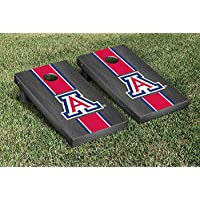 Arizona Wildcats regulation Cornhole Game SetオニキスStainedストライプバージョン2
