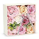 バラ型ソープフラワー 枯れない花 誕生日 記念日 母の日バレンタインデー 昇進 転居など最適としてのプレゼント 創意ギフトボックス メッセージカード付き