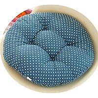 女の子の心の椅子のクッションクッションクッション学生の教室かわいいおならパッド厚い畳座クッションブースターパッド,青い背景,50x50cm [スリップバージョンの厚]