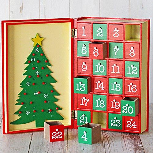 【カルディ限定】 アドベントカレンダー ウッドボックス ブック型 木製【2017クリスマス】