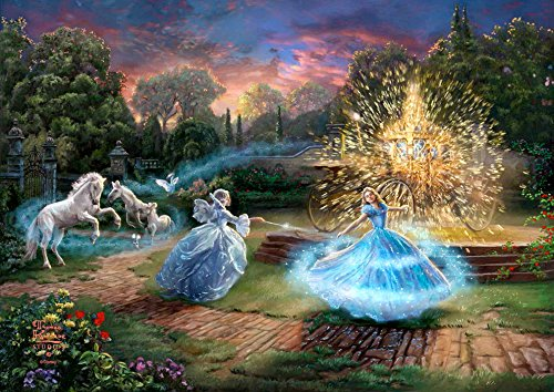 西洋絵画 ディズニー シンデレラ Wishes Granted 42x30cm トーマスキンケード Cinderella  [並行輸入品]