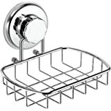 HASKO accessories - Super Powerful Vacuum Suction Cup Soap Dish - Strong Stainless Steel Sponge Holder for Bathroom & Kitchen