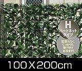 山善(YAMAZEN) リーフラティス 約100×200cm ハードネットタイプ フォレストグリーン LLH-12C FG
