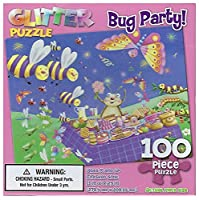 """Bug Party"" 100 Piece Glitter Puzzle"