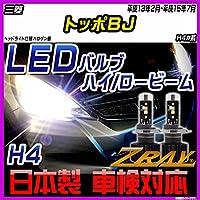 三菱 トッポBJ H4#系 平成13年2月-平成15年7月 【LED ホワイトバルブ】 日本製 3年保証 車検対応 led LEDライト