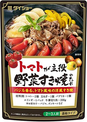 ダイショー トマトが主役 野菜 すき焼きのたれ 200g×10