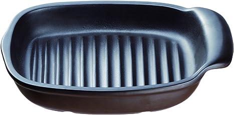 イシガキ産業 コンパクトプレート長角型 魚焼きグリル対応 ブラウン 3664