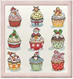 Bothy Threads クロスステッチキット Christmas Cup Cakes クリスマスカップケーキ 【並行輸入品】 XH6