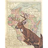 Apple Creek Wisconsin StateマップWhitetail Deer Bow Huntingアートプリント11 x 14キャビン壁装飾