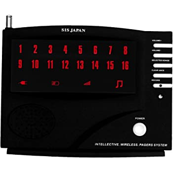 商売繁盛ワイヤレス・コードレスチャイム (10席用) 送信機10個付き らくらくクリア 大画面3桁/ 最大99席対応