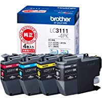 【brother純正】インクカートリッジ4色パック LC3111-4PK 対応型番:DCP-J987N、DCP-J982…