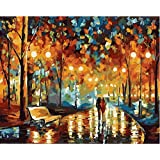 Wowdecor Paint by Numbers Canvas Kits for Adults Beginner Kids, DIY Acrylic Number Painting - Venice Water City Landscape 16x20 inch - Wall Art Digital Oil Painting Home Decor (Frameless, Lovers)