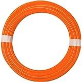 "Quickun Pneumatic Tubing 3/8"" Tube OD PU Polyurethane Tube Air Hose Line for Air Compressor Fitting or Fluid Transfer (Orange"
