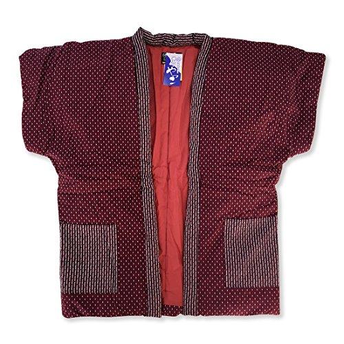 はんてん 刺繍婦人やっこ袖なし半天7320 赤 久留米手づくり ちゃんちゃんこ