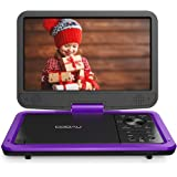 """COOAU 12.5"""" Portable DVD Player with HD Swivel Screen, 5 Hours Built-in Rechargeable Battery, Region Free, Support USB/SD Car"""