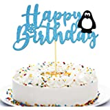 Anxdh Penguin Party Supplies Happy Birthday Topper Penguin Balloon Cake Topper, Baby Shower Decoration