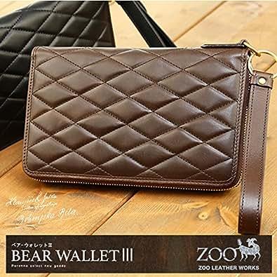 (ズー)zoo ZLW-038 長財布 ベアーウォレット3 ブラック×レッド