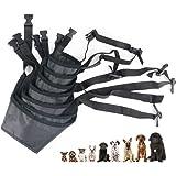 Idepet 1SET Dog Muzzles Suit,7PCS Adjustable Dog Mouth Cover Anti-Biting Barking Muzzles for Small Medium Large Extra Dog (Pa