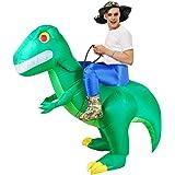 KOOYNN Inflatable Alien Costume Dinosaur Halloween Costume Blow up Fancy Dress Adult/Kids