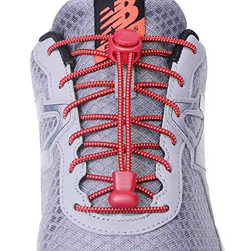 [Neo-wows] 「3足」結ばない靴ひも,靴の着脱を簡単に レースロック 伸縮するワンタッチゴム靴紐 お子様、大人、ご高齢者、アスリート、靴紐を結ぶのが苦手な方 反射素材で夜間でも安心
