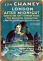 Shimaier 壁の装飾 メタルサイン 1927 Lon Chaney in London After Midnight ウォールアート バー カフェ 縦20×横30cm ヴィンテージ風 メタルプレート ブリキ 看板